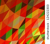 Abstract Triangle Mosaic Vector ...