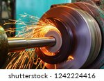 production of parts in the... | Shutterstock . vector #1242224416