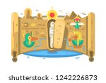 tomb of egyptian pharaoh at... | Shutterstock .eps vector #1242226873