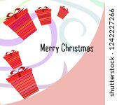 christmas card  gifts  vector... | Shutterstock .eps vector #1242227266
