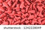 3d render of thumbs up hand... | Shutterstock . vector #1242228049
