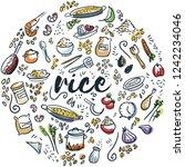 rice hand drawn circular design | Shutterstock .eps vector #1242234046