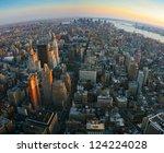 aerial panoramic fish eye view...   Shutterstock . vector #124224028