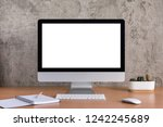 blank screen of all in one... | Shutterstock . vector #1242245689