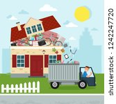 the concept of excessive... | Shutterstock .eps vector #1242247720