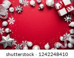 merry christmas and happy... | Shutterstock . vector #1242248410