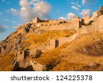 old fortress  acrocorinth   of... | Shutterstock . vector #124225378