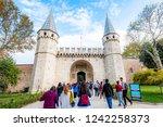 topkapi palace museum  istanbul ...   Shutterstock . vector #1242258373