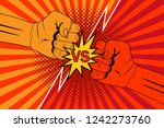 versus rivalry fist vector... | Shutterstock .eps vector #1242273760