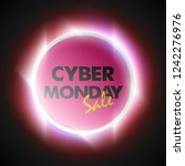 cyber monday sale circle banner.... | Shutterstock . vector #1242276976