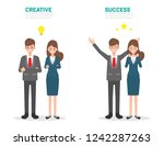 creative people and success... | Shutterstock .eps vector #1242287263
