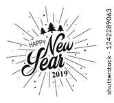 happy new year 2019.... | Shutterstock . vector #1242289063