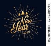 happy new year 2019.... | Shutterstock . vector #1242289069
