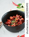 spicy chicken in sweet and sour ...   Shutterstock . vector #1242300490