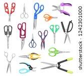 scissor vector professional... | Shutterstock .eps vector #1242301000