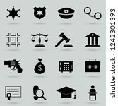 legal  law and justice icon set | Shutterstock .eps vector #1242301393