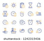 time line icons. set of... | Shutterstock .eps vector #1242315436