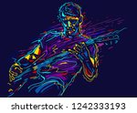 musician with a guitar. rock... | Shutterstock .eps vector #1242333193
