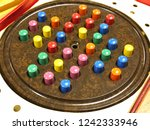 antique solitaire game | Shutterstock . vector #1242333946