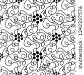 abstract floral doodle seamless ... | Shutterstock .eps vector #1242337576