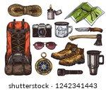 vector hand drawn set of... | Shutterstock .eps vector #1242341443