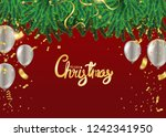 christmas party poster template ... | Shutterstock .eps vector #1242341950