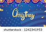 christmas party poster template ... | Shutterstock .eps vector #1242341953