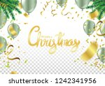 christmas party poster template ... | Shutterstock .eps vector #1242341956