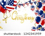 christmas party poster template ... | Shutterstock .eps vector #1242341959