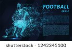 football of blue glowing dots.... | Shutterstock .eps vector #1242345100