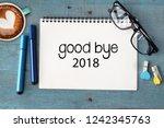 business concept. top view... | Shutterstock . vector #1242345763