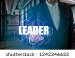businessman hand touching...   Shutterstock . vector #1242346633