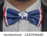 flag of wyoming on bowtie...   Shutterstock . vector #1242346660