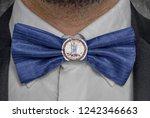 flag of virginia on bowtie...   Shutterstock . vector #1242346663