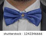 flag of wisconsin on bowtie...   Shutterstock . vector #1242346666