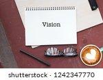 business concept. top view... | Shutterstock . vector #1242347770