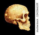 abstract sparkling skull of... | Shutterstock .eps vector #1242366109