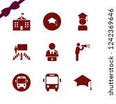 academic icon. academic vector...   Shutterstock .eps vector #1242369646