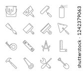construction tool icon... | Shutterstock .eps vector #1242379063