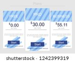vector price table template....