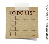 hand draw to do list on note... | Shutterstock . vector #124239973