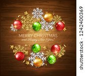 merry christmas happy new year... | Shutterstock .eps vector #1242400369