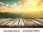 table top and blur nature of... | Shutterstock . vector #1242407893