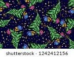 new year  winter seamless... | Shutterstock .eps vector #1242412156