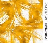 artistic brush smears. copper... | Shutterstock . vector #1242416140