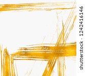 artistic brush smears. golden... | Shutterstock . vector #1242416146