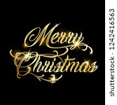 merry christmas and happy new... | Shutterstock .eps vector #1242416563