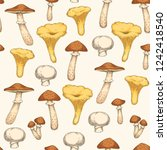 seamless pattern with edible... | Shutterstock .eps vector #1242418540