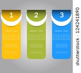 vector  progress banners... | Shutterstock .eps vector #124241890