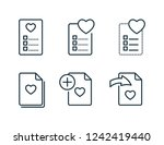 wishlist and favorites thin... | Shutterstock .eps vector #1242419440